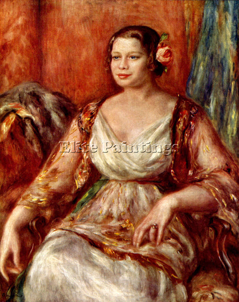 RENOIR PORTRAIT OF TILLA DURIEUX ARTIST PAINTING REPRODUCTION HANDMADE OIL REPRO