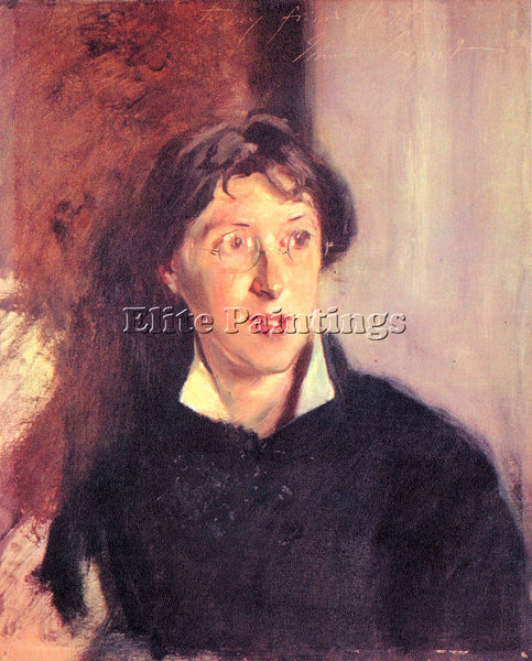 JOHN SINGER SARGENT PORTRAIT OF VERNON LEE ARTIST PAINTING REPRODUCTION HANDMADE