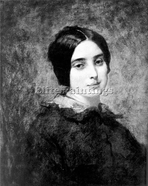 THOMAS COUTURE PORTRAIT OF ZELIE COURBET ARTIST PAINTING REPRODUCTION HANDMADE