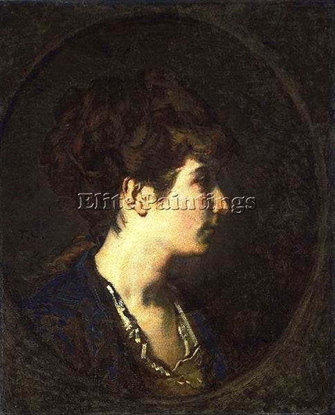 THOMAS COUTURE PORTRAIT OF A LADY ARTIST PAINTING REPRODUCTION HANDMADE OIL DECO