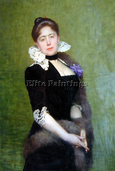 JULES JOSEPH LEFEBVRE PORTRAIT OF A LADY ARTIST PAINTING REPRODUCTION HANDMADE