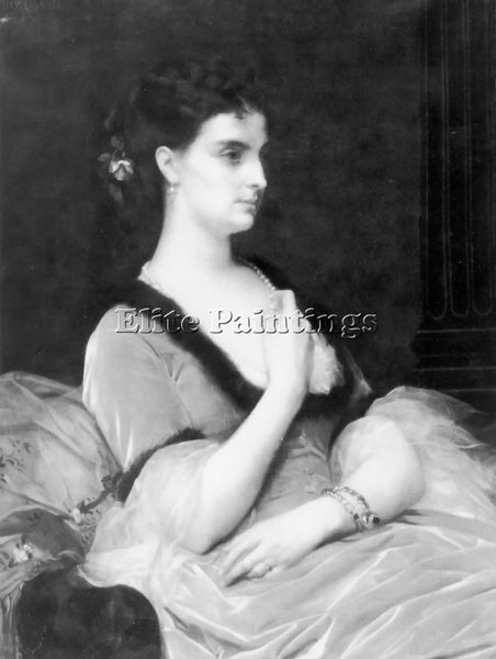 ALEXANDRE CABANEL PORTRAIT OF A LADY ARTIST PAINTING REPRODUCTION HANDMADE OIL