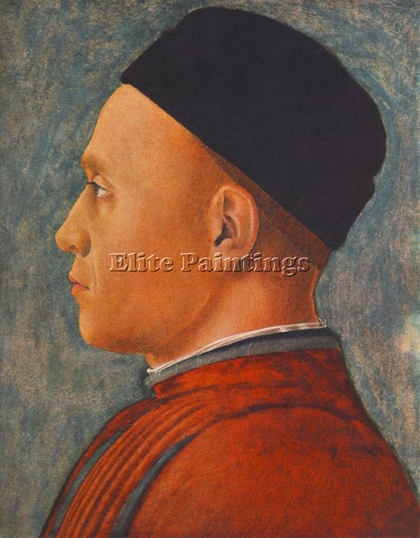 ANDREA MANTEGNA PORTRAIT OF A MAN ARTIST PAINTING REPRODUCTION HANDMADE OIL DECO