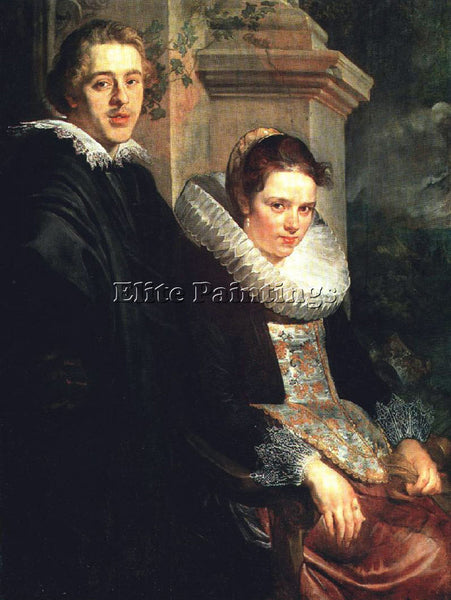 JACOB JORDAENS PORTRAIT OF A YOUNG MARRIED COUPLE ARTIST PAINTING REPRODUCTION
