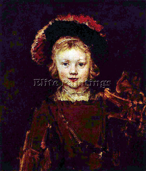 REMBRANDT PORTRAIT OF A BOY TITUS REMBRANDT S SON  ARTIST PAINTING REPRODUCTION