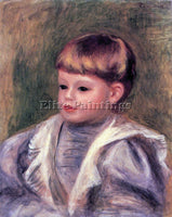 RENOIR PORTRAIT OF A CHILD PHILIPPE GANGNAT  ARTIST PAINTING HANDMADE OIL CANVAS