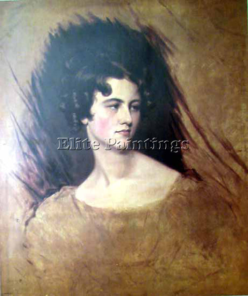 SIR THOMAS LAWRENCE PORTRAIT OF A PRINCESS  ARTIST PAINTING HANDMADE OIL CANVAS