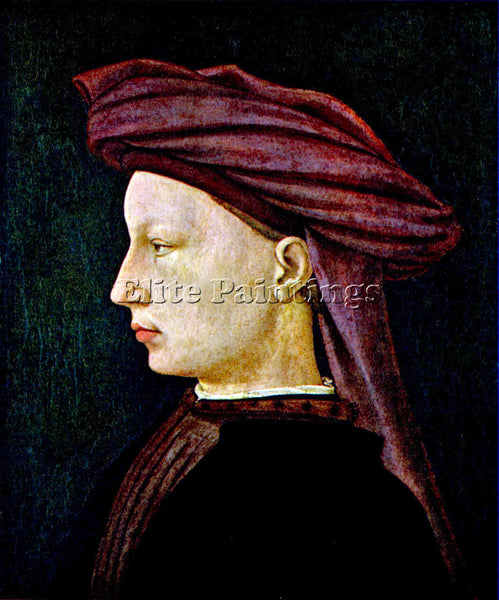 MASACCIO PORTRAIT OF A YOUTH IN PROFILE ARTIST PAINTING REPRODUCTION HANDMADE