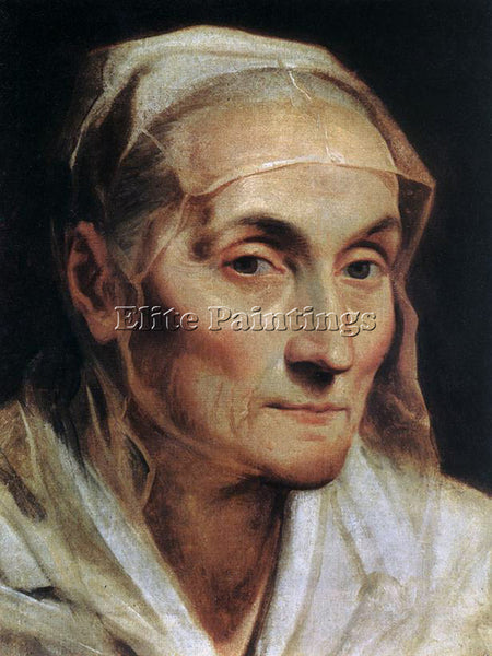 GUIDO RENI PORTRAIT OF AN OLD WOMAN ARTIST PAINTING REPRODUCTION HANDMADE OIL