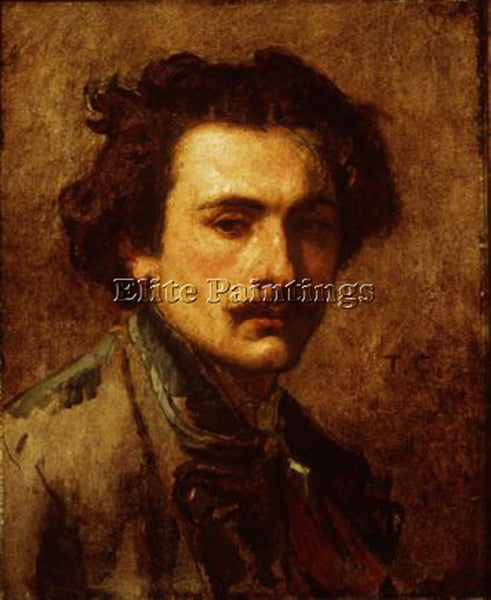 THOMAS COUTURE PORTRAIT OF THE ARTIST ARTIST PAINTING REPRODUCTION HANDMADE OIL
