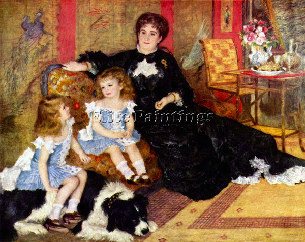 RENOIR PORTRAIT OF THE MRS CHARPENTIER AND HER CHILDREN ARTIST PAINTING HANDMADE