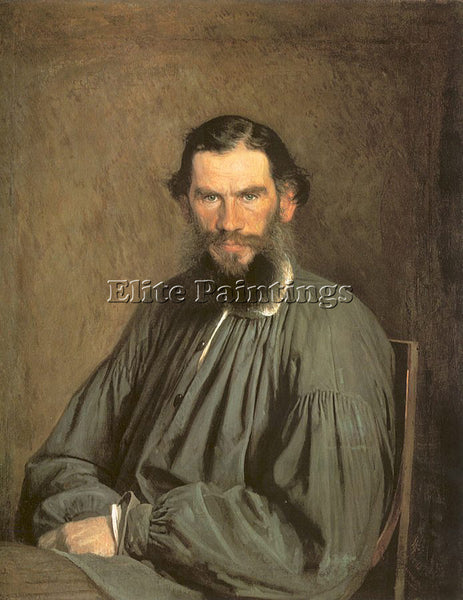 IVAN NIKOLAEVICH KRAMSKOY PORTRAIT OF THE WRITER LEO TOLSTOY ARTIST PAINTING OIL