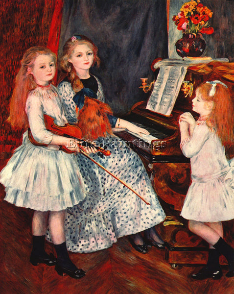 RENOIR PORTRAIT OF THE DAUGHTER OF CATULLE MENDES ARTIST PAINTING REPRODUCTION