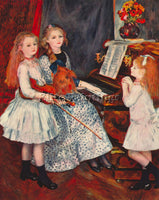 RENOIR PORTRAIT OF THE DAUGHTERS OF CATULLE MENDES AT THE PIANO ARTIST PAINTING