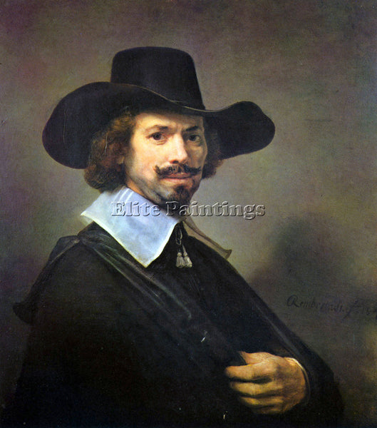 REMBRANDT PORTRAIT OF THE PAINTER HENDRICK MARTENSZ SORGH ARTIST PAINTING CANVAS