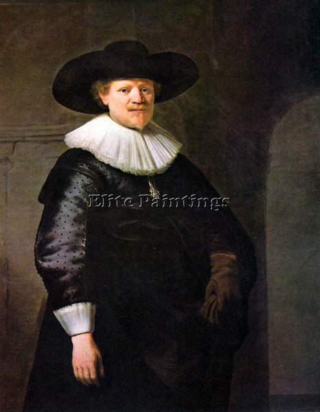 REMBRANDT PORTRAIT OF THE POET JAN HERMANSZ KRUL ARTIST PAINTING HANDMADE CANVAS