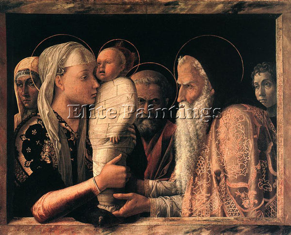 ANDREA MANTEGNA PRESENTATION AT THE TEMPLE ARTIST PAINTING REPRODUCTION HANDMADE