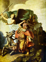 REMBRANDT PROPHET BALAAM AND THE DONKEY ARTIST PAINTING REPRODUCTION HANDMADE