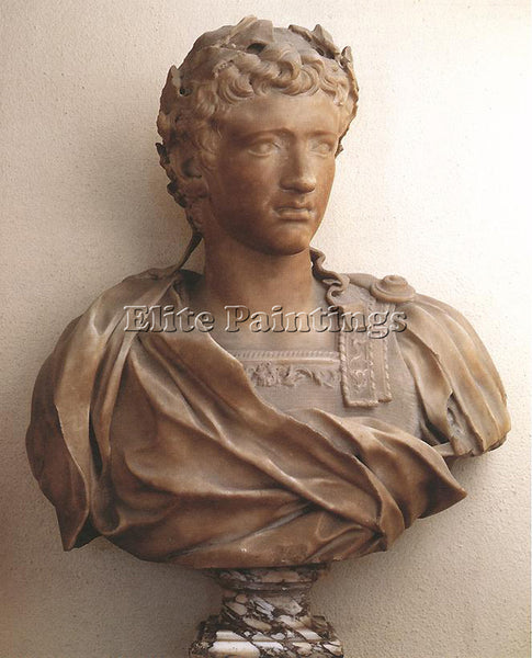 PIERRE PUGET BUST OF YOUNG AUGUST ARTIST PAINTING REPRODUCTION HANDMADE OIL DECO