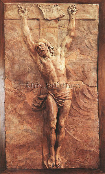 PIERRE PUGET CHRIST DYING ON THE CROSS ARTIST PAINTING REPRODUCTION HANDMADE OIL