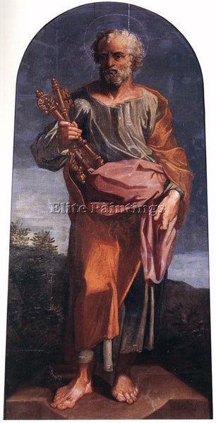 PIERRE PUGET ST PETER HOLDING THE KEY OF THE PARADISE ARTIST PAINTING HANDMADE