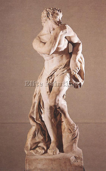 PIERRE PUGET THE FAUN ARTIST PAINTING REPRODUCTION HANDMADE OIL CANVAS REPRO ART