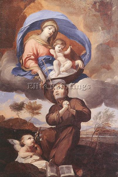 PIERRE PUGET VIRGIN GIVING THE SCAPULAR TO ST SIMON STOCK ARTIST PAINTING CANVAS