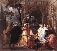 BELGIAN QUELLIN ERASMUS II ACHILLES AMONG THE DAUGHTERS OF LYCOMEDES OIL CANVAS