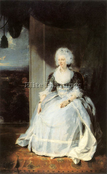 SIR THOMAS LAWRENCE QUEEN CHARLOTTE ARTIST PAINTING REPRODUCTION HANDMADE OIL