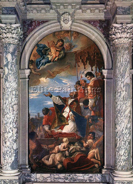 SEBASTIANO RICCI ALTAR OF ST GREGORY THE GREAT ARTIST PAINTING REPRODUCTION OIL