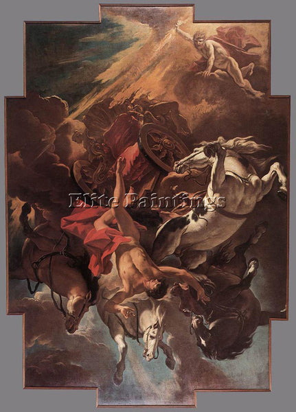 SEBASTIANO RICCI FALL OF PHAETON ARTIST PAINTING REPRODUCTION HANDMADE OIL REPRO