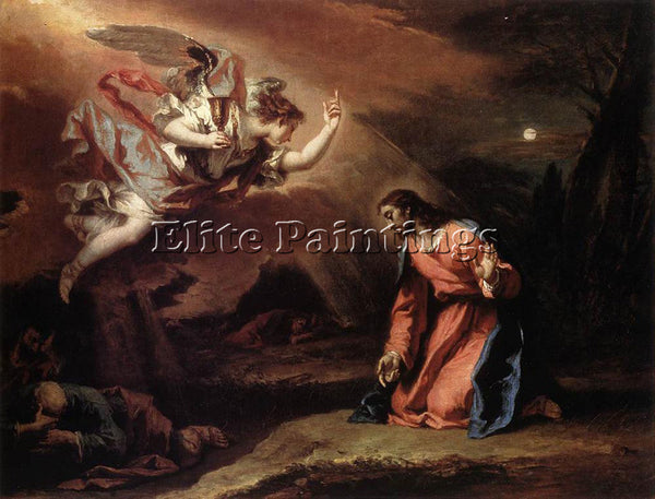SEBASTIANO RICCI PRAYER IN THE GARDEN ARTIST PAINTING REPRODUCTION HANDMADE OIL