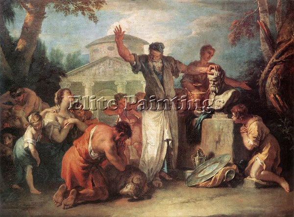 SEBASTIANO RICCI SACRIFICE TO SILENUS ARTIST PAINTING REPRODUCTION HANDMADE OIL