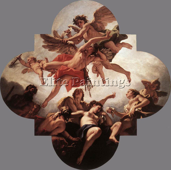 SEBASTIANO RICCI THE PUNISHMENT OF CUPID ARTIST PAINTING REPRODUCTION HANDMADE