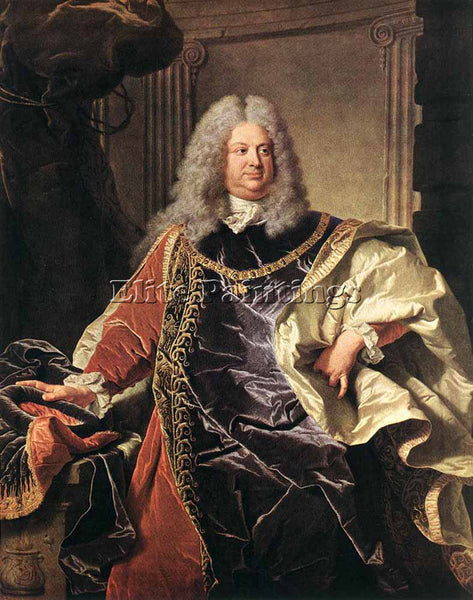 HYACINTHE RIGAUD PORTRAIT OF COUNT SINZENDORF ARTIST PAINTING REPRODUCTION OIL