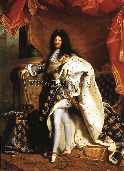 HYACINTHE RIGAUD PORTRAIT OF LOUIS XIV 1701 ARTIST PAINTING HANDMADE OIL CANVAS