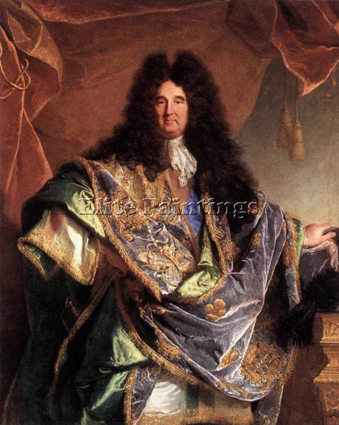 HYACINTHE RIGAUD PORTRAIT OF PHILLIPPE DE COURCILLON ARTIST PAINTING HANDMADE