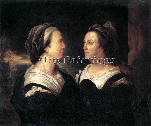 HYACINTHE RIGAUD PORTRAIT OF THE ARTISTS MOTHER ARTIST PAINTING REPRODUCTION OIL