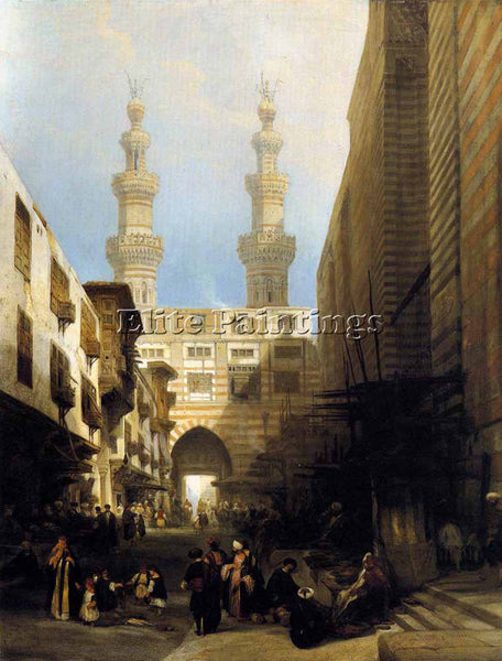 DAVID ROBERTS A VIEW IN CAIRO ARTIST PAINTING REPRODUCTION HANDMADE CANVAS REPRO