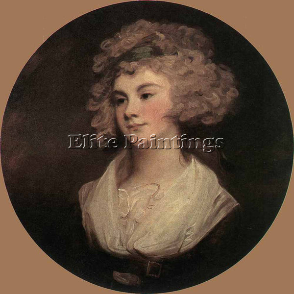 GEORGE ROMNEY ROMBOUTS THEODOR LADY IN A BROWN ROBE ARTIST PAINTING REPRODUCTION