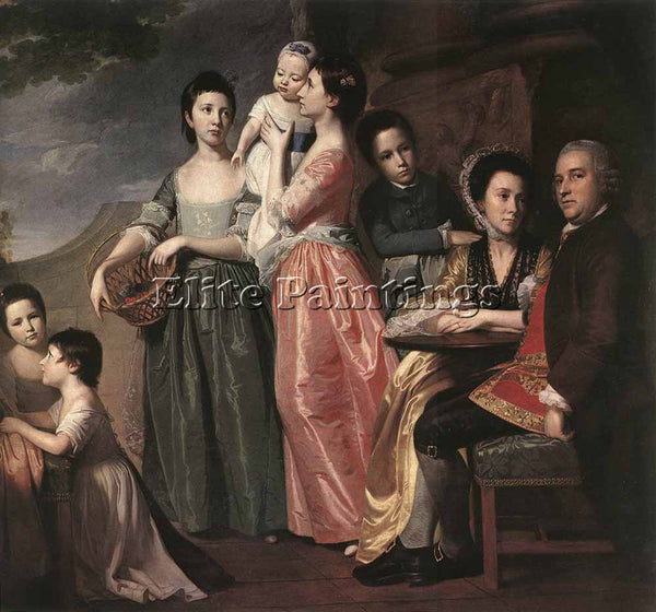 GEORGE ROMNEY ROMBOUTS THEODOR THE LEIGH FAMILY ARTIST PAINTING REPRODUCTION OIL