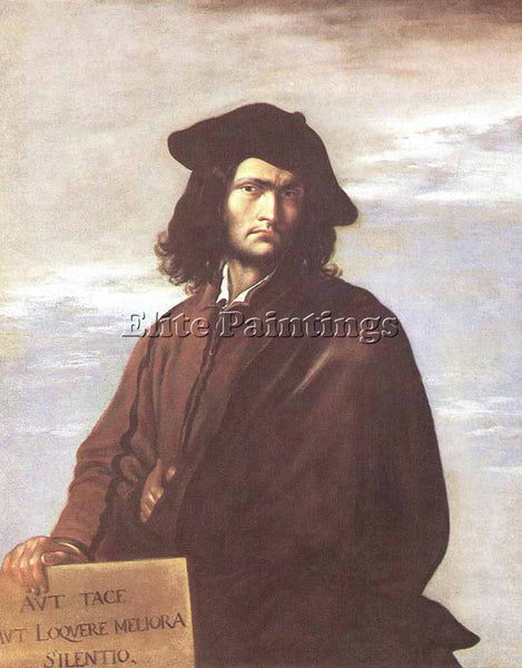 SALVATOR ROSA SELF PORTRAIT 1641 ARTIST PAINTING REPRODUCTION HANDMADE OIL REPRO