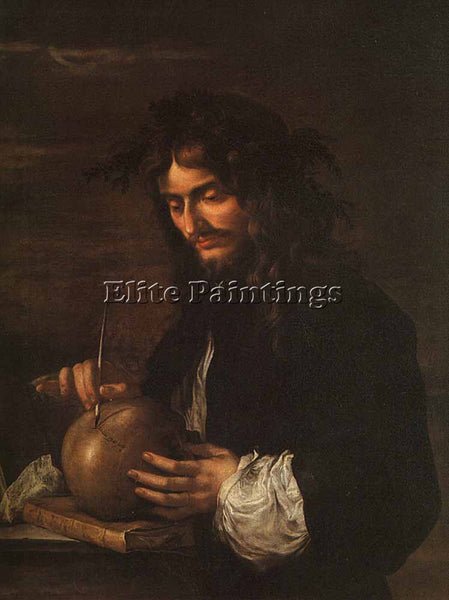 SALVATOR ROSA SELF PORTRAIT ARTIST PAINTING REPRODUCTION HANDMADE OIL CANVAS ART