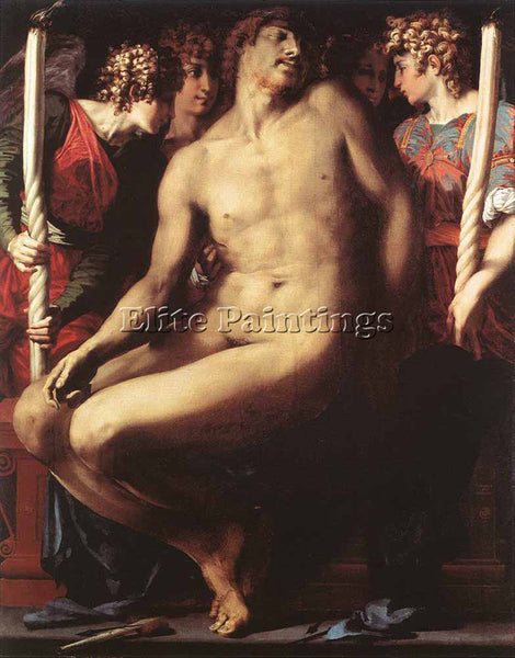 ROSSO FIORENTINO DEAD CHRIST WITH ANGELS ARTIST PAINTING REPRODUCTION HANDMADE