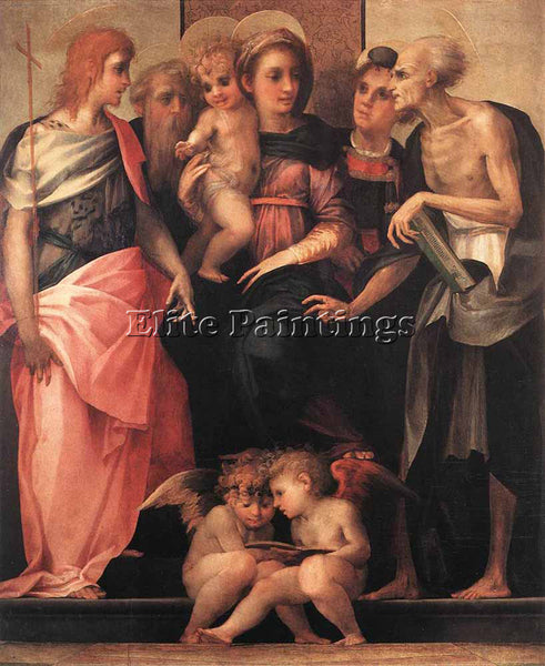 ROSSO FIORENTINO MADONNA ENTHRONED WITH FOUR SAINTS ARTIST PAINTING REPRODUCTION
