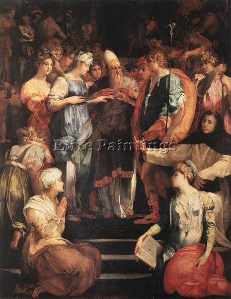 ROSSO FIORENTINO MARRIAGE OF THE VIRGIN ARTIST PAINTING REPRODUCTION HANDMADE