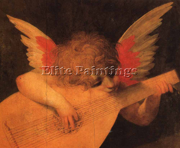ROSSO FIORENTINO MUSICIAN ANGEL ARTIST PAINTING REPRODUCTION HANDMADE OIL CANVAS