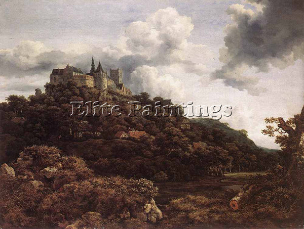 JACOB VAN RUISDAEL BENTHEIM CASTLE ARTIST PAINTING REPRODUCTION HANDMADE OIL ART