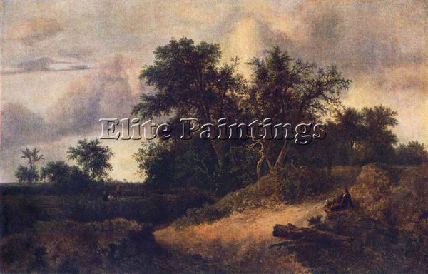 JACOB VAN RUISDAEL LANDSCAPE WITH A HOUSE IN THE GROVE ARTIST PAINTING HANDMADE