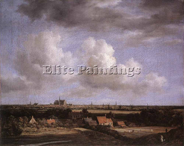 JACOB VAN RUISDAEL LANDSCAPE WITH A VIEW OF HAARLEM ARTIST PAINTING REPRODUCTION